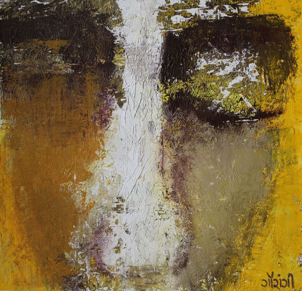 Title: Observe and reflect Medium: Acrylic on canvas Size: 10.2*10 inches / 25.90*25.4 cm (2018) Artist: gaurangi mehta shah