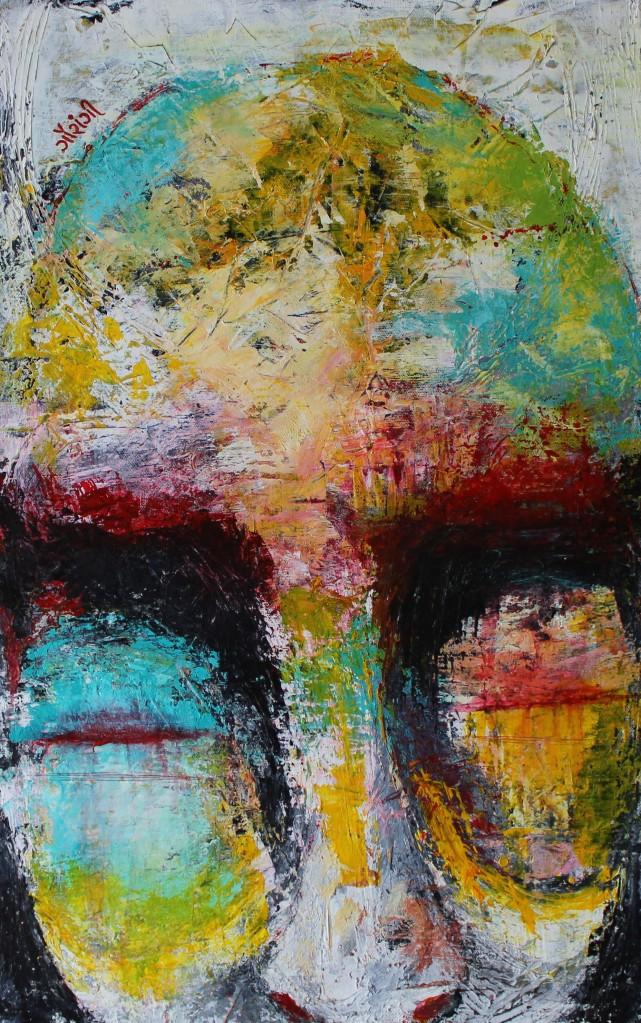 Title: Momentarily in pain Medium: Acrylic on canvas Size: 15*23.5 inches (2019) Artist: gaurangi mehta shah