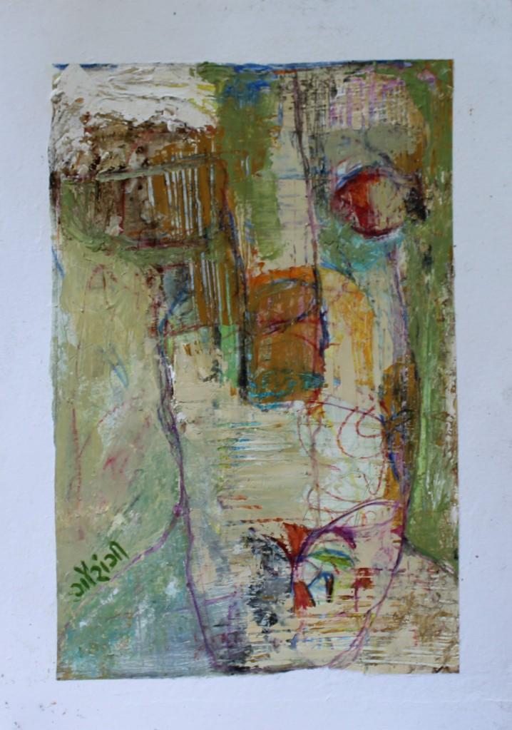 Title: Bloom. Medium: Mixed media on watercolour paper. Size: 8.27*11.7 inches (2020) Artist: gaurangi mehta shah